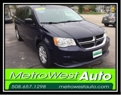 2016 Dodge Grand Caravan for sale at Metro West Auto in Bellingham MA