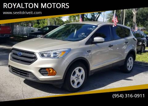 2017 Ford Escape for sale at ROYALTON MOTORS in Plantation FL