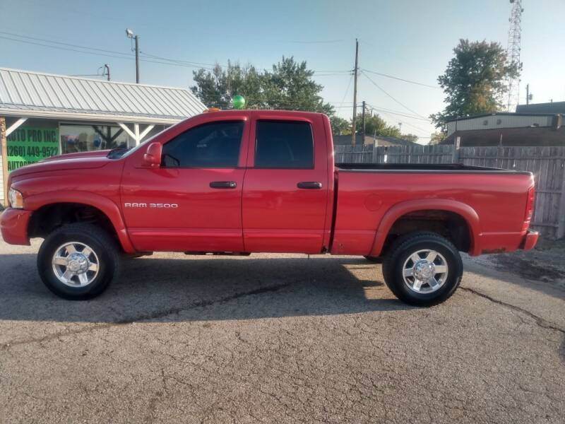 2005 Dodge Ram Pickup 3500 for sale at Auto Pro Inc in Fort Wayne IN