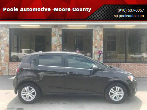 2014 Chevrolet Sonic for sale at Poole Automotive -Moore County in Aberdeen NC