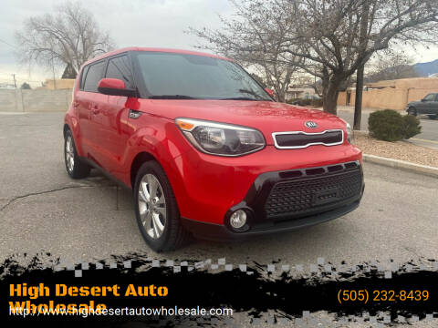 2016 Kia Soul for sale at High Desert Auto Wholesale in Albuquerque NM