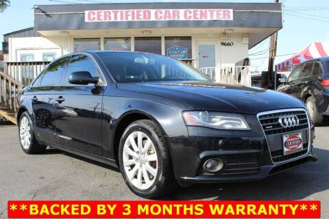 2011 Audi A4 for sale at CERTIFIED CAR CENTER in Fairfax VA