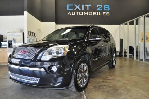 2012 GMC Acadia for sale at Exit 28 Auto Center LLC in Cornelius NC