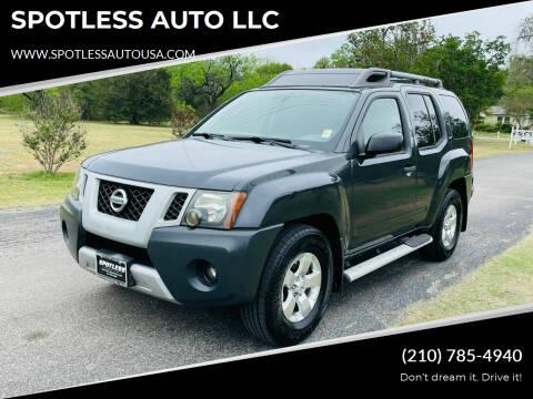 2010 Nissan Xterra for sale at SPOTLESS AUTO LLC in San Antonio TX