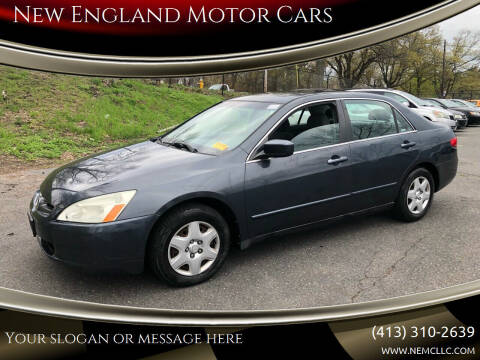 2005 Honda Accord for sale at New England Motor Cars in Springfield MA