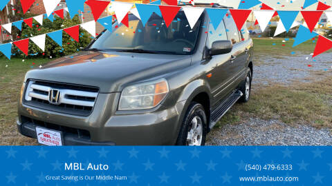 2006 Honda Pilot for sale at MBL Auto Woodford in Woodford VA