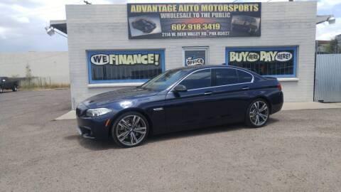 2015 BMW 5 Series for sale at Advantage Auto Motorsports in Phoenix AZ