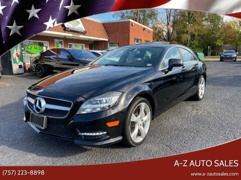 2013 Mercedes-Benz CLS for sale at A-Z Auto Sales in Newport News VA