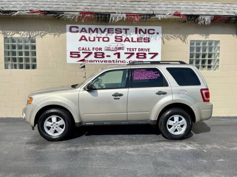 2010 Ford Escape for sale at Camvest Inc. Auto Sales in Depew NY