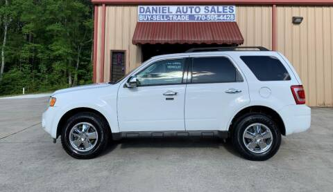 2010 Ford Escape for sale at Daniel Used Auto Sales in Dallas GA