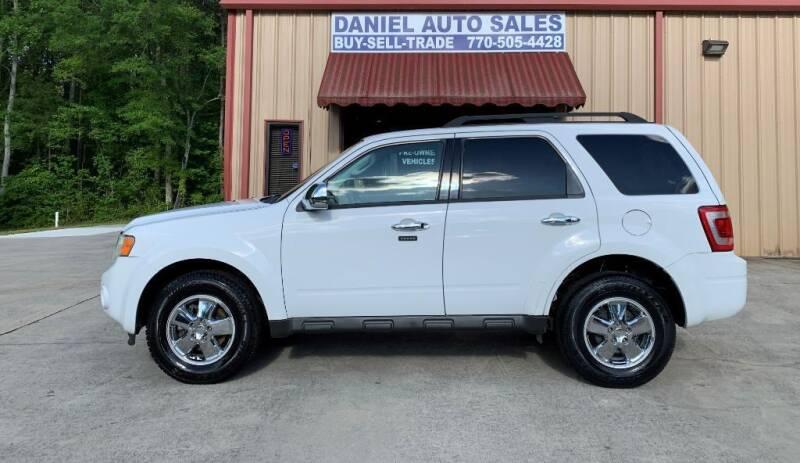 2010 Ford Escape for sale at Daniel Used Auto Sales in Dallas GA