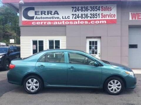 2009 Toyota Corolla for sale at Cerra Automotive LLC in Greensburg PA