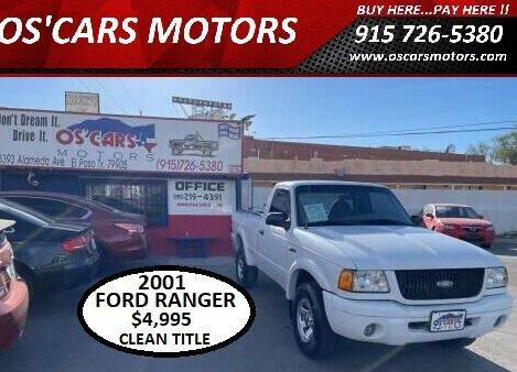 2001 Ford Ranger for sale at Os'Cars Motors in El Paso TX