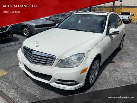 2012 Mercedes-Benz C-Class for sale at AUTO ALLIANCE LLC in Miami FL