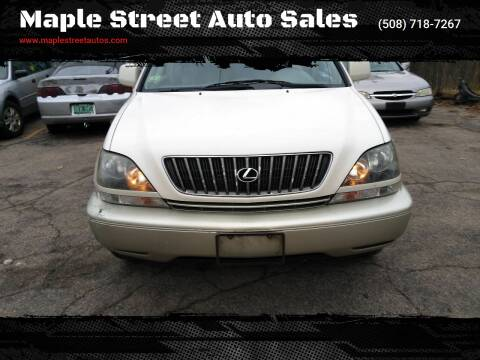 2000 Lexus RX 300 for sale at Maple Street Auto Sales in Bellingham MA