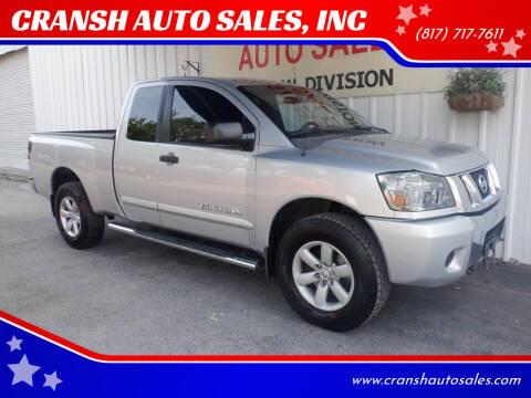 2010 Nissan Titan for sale at CRANSH AUTO SALES, INC in Arlington TX