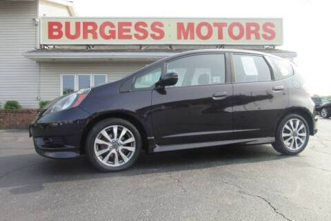 2013 Honda Fit for sale at Burgess Motors Inc in Michigan City IN