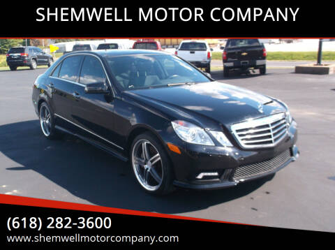 2010 Mercedes-Benz E-Class for sale at SHEMWELL MOTOR COMPANY in Red Bud IL