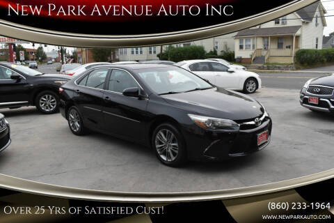 2017 Toyota Camry for sale at New Park Avenue Auto Inc in Hartford CT