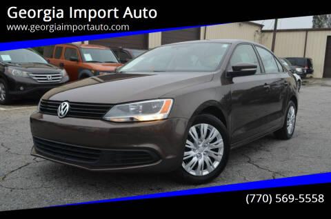 2011 Volkswagen Jetta for sale at Georgia Import Auto in Alpharetta GA