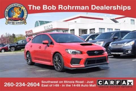 2018 Subaru WRX for sale at BOB ROHRMAN FORT WAYNE TOYOTA in Fort Wayne IN