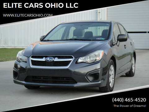 2014 Subaru Impreza for sale at ELITE CARS OHIO LLC in Solon OH