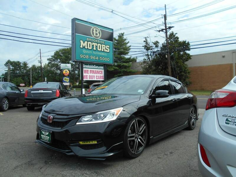 2016 Honda Accord for sale at Brookside Motors in Union NJ