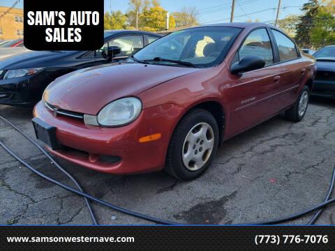 2001 Dodge Neon for sale at SAM'S AUTO SALES in Chicago IL