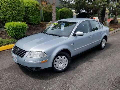 2002 Volkswagen Passat for sale at SS MOTORS LLC in Edmonds WA