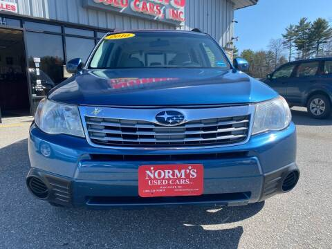 2010 Subaru Forester for sale at NORM'S USED CARS INC in Wiscasset ME