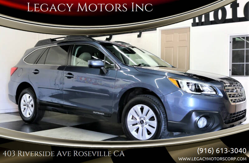 2017 Subaru Outback for sale at Legacy Motors Inc in Roseville CA