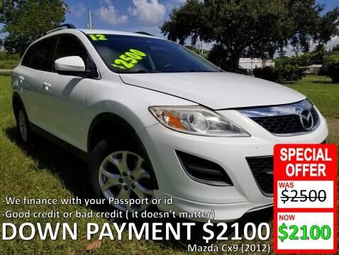 2012 Mazda CX-9 for sale at AUTO COLLECTION OF SOUTH MIAMI in Miami FL