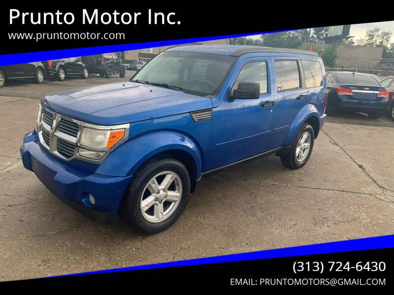 2008 Dodge Nitro for sale at Prunto Motor Inc. in Dearborn MI