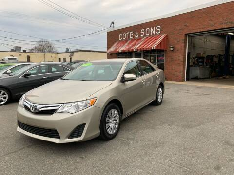 2014 Toyota Camry for sale at Cote & Sons Automotive Ctr in Lawrence MA
