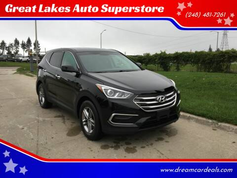 2017 Hyundai Santa Fe Sport for sale at Great Lakes Auto Superstore in Waterford Township MI