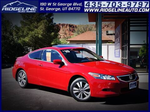 2010 Honda Accord for sale at Ridgeline Auto Sales in Saint George UT