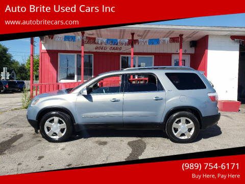 2008 GMC Acadia for sale at Auto Brite Used Cars Inc in Saginaw MI