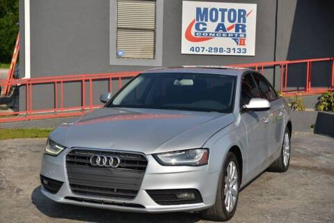 2013 Audi A4 for sale at Motor Car Concepts II - Colonial Location in Orlando FL