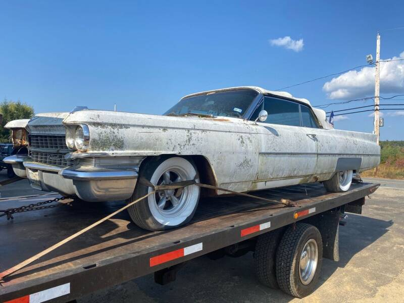 1963 Cadillac DeVille for sale at Classic Heaven Used Cars & Service in Brimfield MA