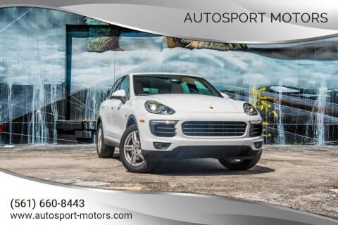 2016 Porsche Cayenne for sale at AUTOSPORT MOTORS in Lake Park FL