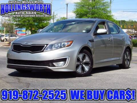 2013 Kia Optima Hybrid for sale at Hollingsworth Auto Sales in Raleigh NC