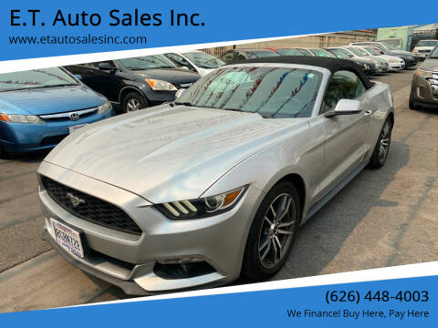 2016 Ford Mustang for sale at E.T. Auto Sales Inc. in El Monte CA