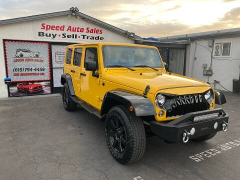 2015 Jeep Wrangler Unlimited for sale at Speed Auto Sales in El Cajon CA