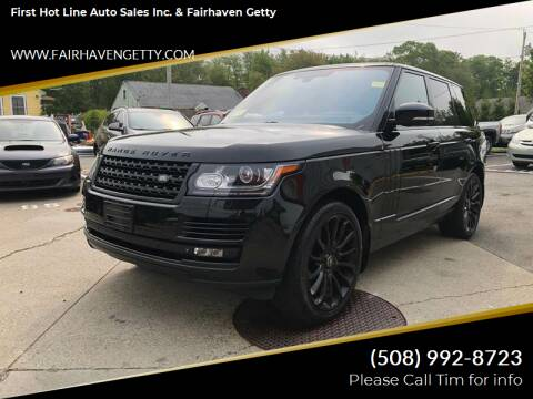 2014 Land Rover Range Rover for sale at First Hot Line Auto Sales Inc. & Fairhaven Getty in Fairhaven MA