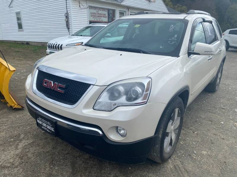 2012 GMC Acadia for sale at Wright's Auto Sales LLC in Townshend VT