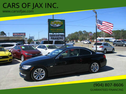2013 BMW 3 Series for sale at CARS OF JAX INC. in Jacksonville FL