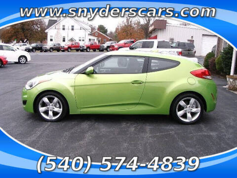 2012 Hyundai Veloster for sale at Snyders Auto Sales in Harrisonburg VA