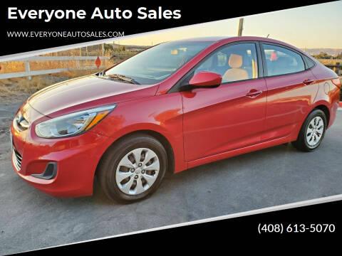 2015 Hyundai Accent for sale at Everyone Auto Sales in Santa Clara CA
