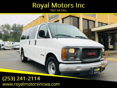 1998 GMC Savana Cargo for sale at Royal Motors Inc in Kent WA