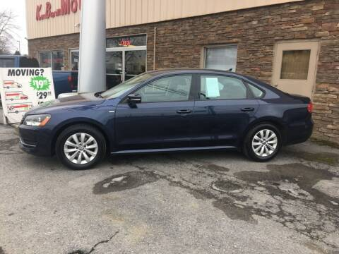 2015 Volkswagen Passat for sale at K B Motors in Clearfield PA